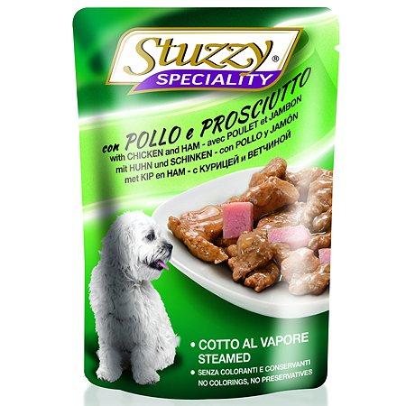 Корм для собак Stuzzy Speciality с курицей и ветчиной консервированный 100г