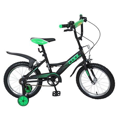 """Велосипед Navigator Basic Cool 16"""" Черно-зеленый матовый"""