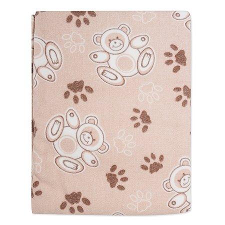 Одеяло байковое Babyton бежевое 100х140