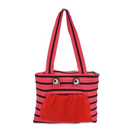 Сумка Zipit Monster Tote/Beach Bag цвет розовый/черный