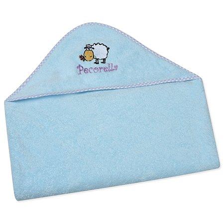 Полотенце с капюшоном Pecorella Голубое