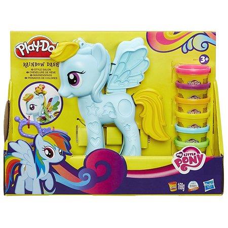 Набор пластилина Play-Doh Стильный салон Рэйнбоу