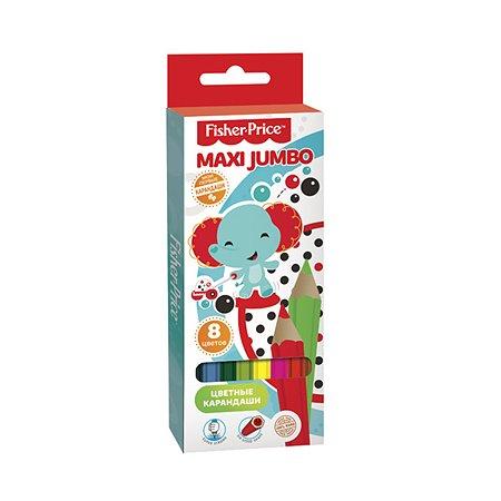 Цветные карандаши Barbie MAXI Jumbo Mattel Fisher Price 8 цветов