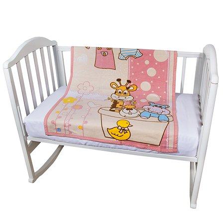 Одеяло байковое Baby Nice 85х115 розовое Купание