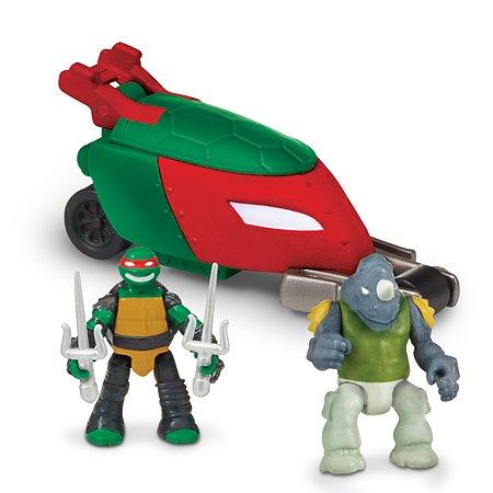 Мотоцикл Ninja Turtles(Черепашки Ниндзя) Стелз с фигурками Рафа и Рокстеди