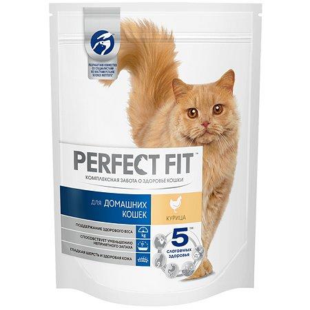 Корм сухой для кошек PerfectFit домашних 190г c курицей