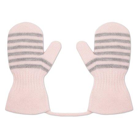 Варежки BabyGo светло-розовые