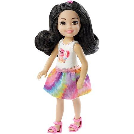 Кукла Barbie Челси Шатенка в топе с котенком FXG77