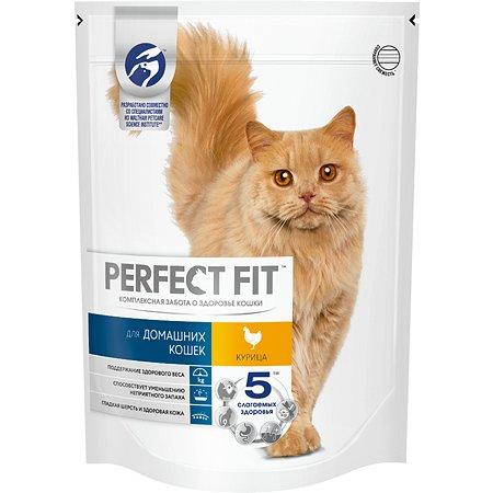 Корм сухой для кошек PerfectFit домашних 650г c курицей