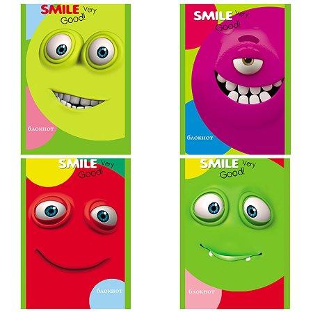 Блокнот Prof Press Разноцветные смайлы А6 16л в ассортименте Б16-3265