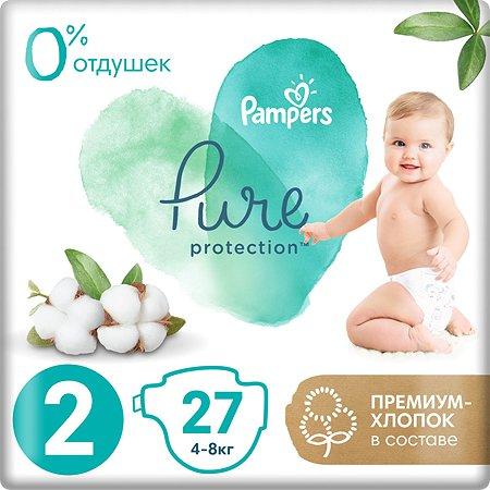 Подгузники Pampers Pure Protection Mini 4-8кг 27шт