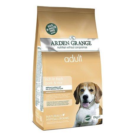 Корм для собак Arden Grange Adult с свининой и рисом 12кг