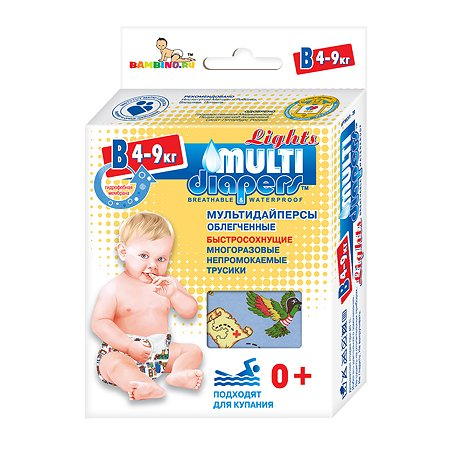 Трусики MULTI-DIAPERS Лайт Пираты В 4-9кг 1шт