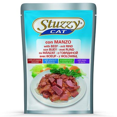 Корм для кошек Stuzzy с говядиной консервированный 100г