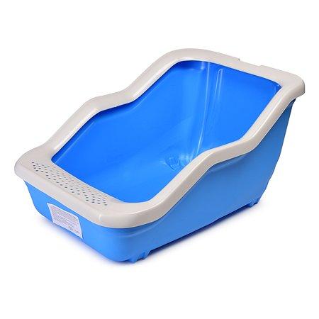 Туалет-лоток MPS Netta Open с рамкой Голубой S08100103
