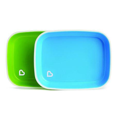 Набор тарелок Munchkin 2шт Голубой Зеленый 12447