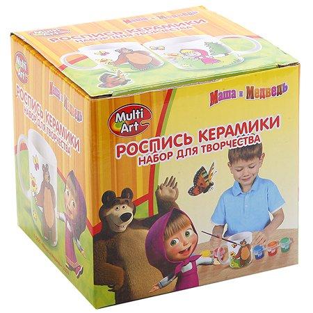Набор для росписи Multiart Кружка керамическая Маша и медведь + краски + кисточка