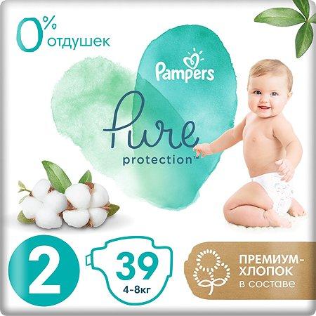 Подгузники Pampers Pure Protection Mini 4-8кг 39шт
