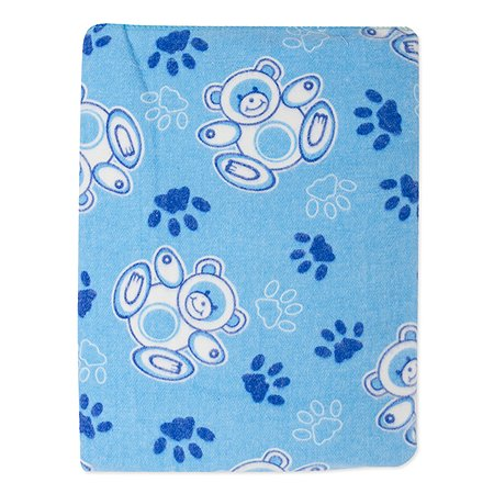 Одеяло байковое Babyton голубое 100х140
