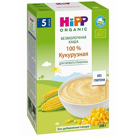 Каша Hipp безмолочная кукуруза 200г с 5месяцев