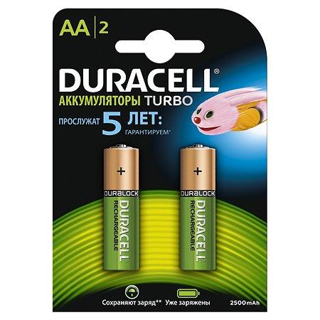 Аккумуляторы Duracell Turbo Ni-MH AA HR06 2400mAh 2шт DRC-81472342