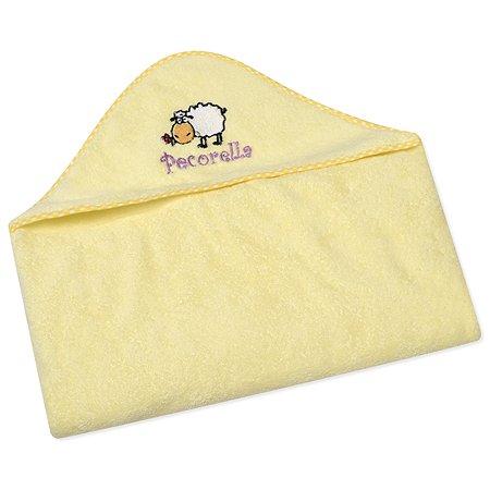 Полотенце с капюшоном Pecorella Желтое