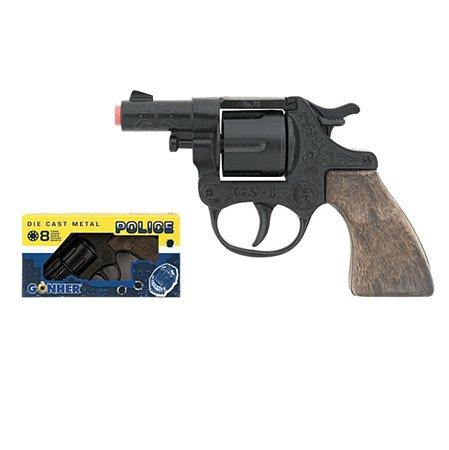 Полицейский револьвер Gonher черный 15.5см звук