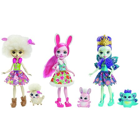 Набор Enchantimals из трех кукол со зверюшками