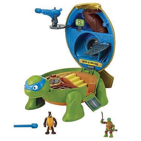Набор Ninja Turtles(Черепашки Ниндзя) МИКРО. Тренировочный зал Лео
