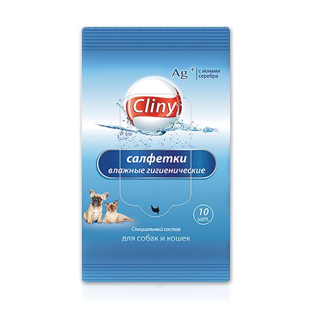 Влажные салфетки для животных Cliny 10шт 54697