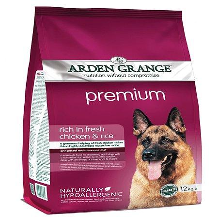 Корм для собак Arden Grange Adult Premium с курицей 12кг