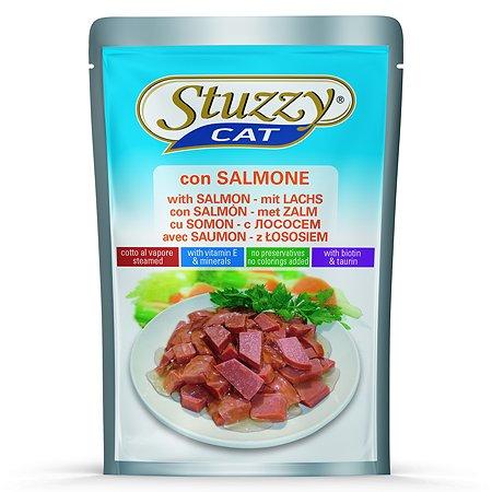 Корм для кошек Stuzzy с лососем консервированный 100г