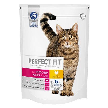 Корм сухой для кошек PerfectFit 650г c курицей