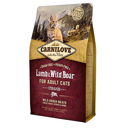 Корм для кошек Carnilove Sterilised ягненок и дикий кабан 2кг