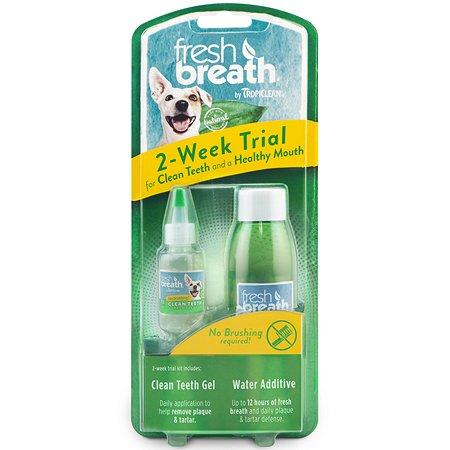 Набор для ухода за зубами для собак TropiClean Свежее дыхание гель 14.8мл+питьевая добавка 118мл