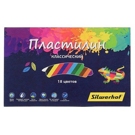 Пластилин Silwerhof Цветландия 18цветов 360г 1155762
