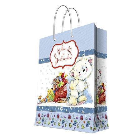 Пакет бумажный Magic Time Белый мишка