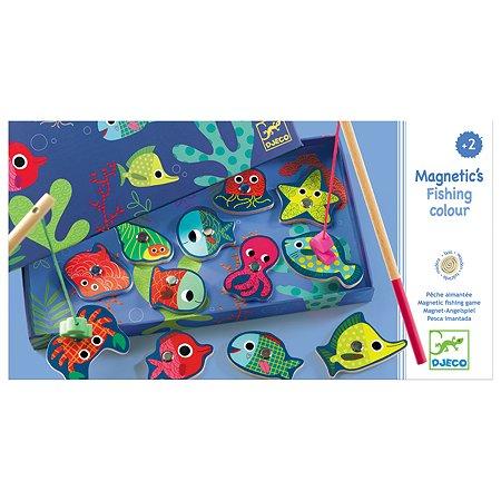 Игра настольная Djeco Рыбалка Цвета магнитная 01653