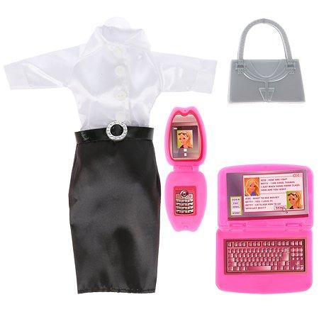 Одежда для куклы Карапуз школьная с аксессуарами 295977