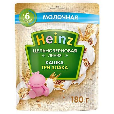 Каша Heinz цельнозеровая 3 злака 180г с 6 месяцев