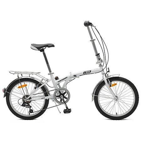 Велосипед TopGear складной 20 дюймов Белый ВНС2085
