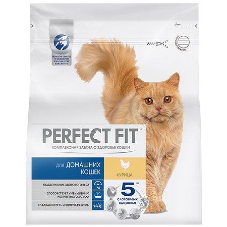 Корм сухой для кошек PerfectFit 1.2кг с курицей живущих в домашних условиях