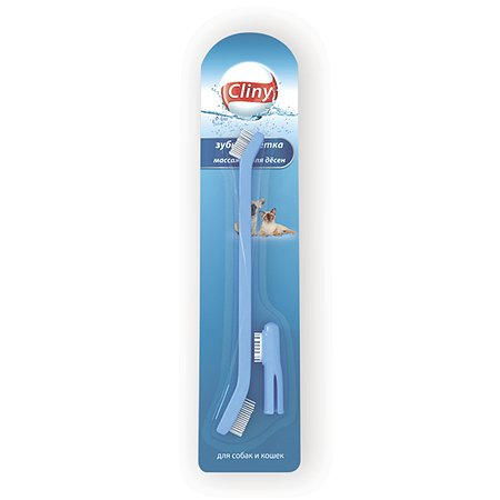 Зубная щетка для кошек и собак Cliny массажер для десен 52418