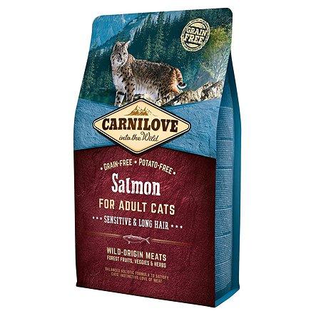 Корм для кошек Carnilove Sensitive and Long Hair лосось 2кг