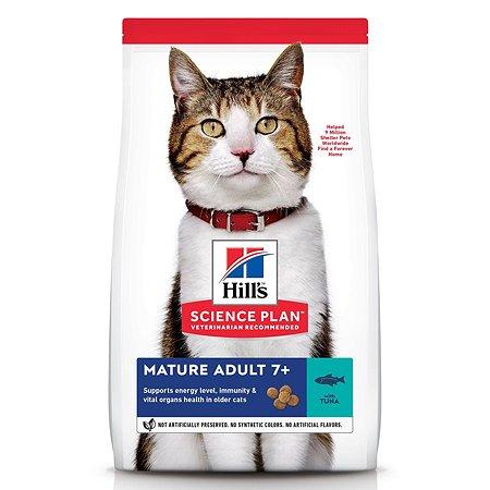 Корм сухой для кошек HILLS Science Plan 1.5кг с тунцом 7+ для поддержания здоровья в период старения