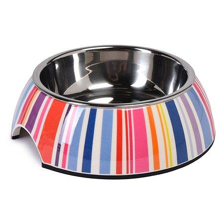 Миска для собак SuperDesign Полоска на меламиновой подставке 0.16л 80041