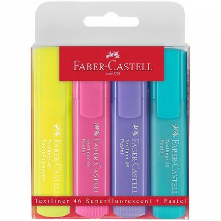 Набор текстовыделителей Faber Castell 46 Superfluorescent+Pastel 1-5м 4шт 154610