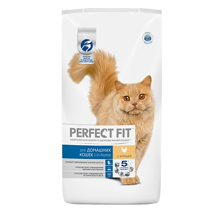 Корм сухой для кошек PerfectFit 3кг с курицей живущих в домашних условиях