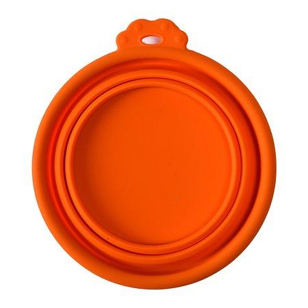 Миска для собак SuperDesign складная малая 350мл Оранжевая 19041