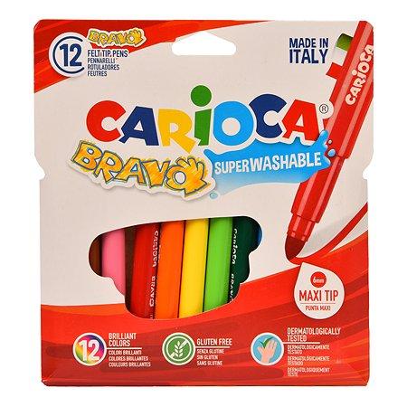Фломастеры CARIOCA Bravo 12цветов 42755